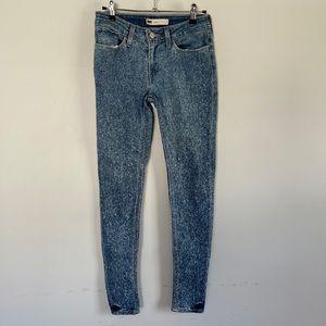 Levi's mineral wash super skinny jeans 27